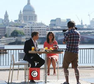 Susanna Reid and Ben Shephard - Susanna Reid filming Good Morning Britain on the Southbank - London, United Kingdom -...