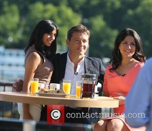 Susanna Reid, Ben Shephard and Fiona Wade - Susanna Reid and Ben Shephard filming a segment for 'Good Morning Britain'...