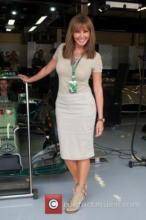 Carol Vorderman - Silverstone F1 Grand Prix, qualifying race - Silverstone, United Kingdom - Saturday 5th July 2014