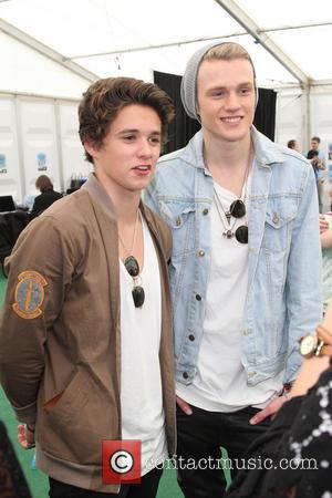 The Vamps, Brad Simpson and Tristan Evans - Backstage at British Summer Time in Hyde Park. London - London, United...