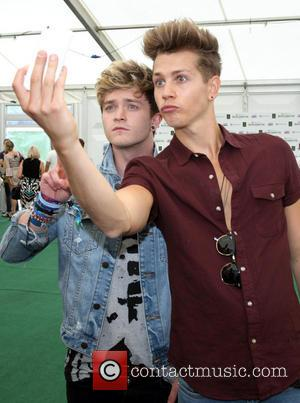 The Vamps, Connor Ball and James McVey - Backstage at British Summer Time in Hyde Park. London - London, United...