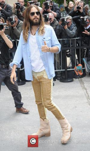 Jared Leto - Celebrities arriving at the Chanel Catwalk Show - Outside Arrivals - Paris, France - Tuesday 8th July...