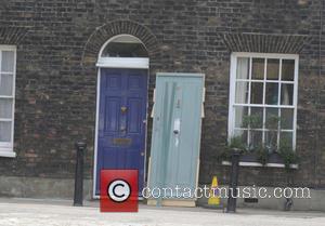 Tom Hardy - Tom Hardy on the set of Legend movie in London - London, United Kingdom - Wednesday 9th...