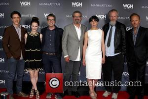 Manhattan Cast, Ashley Zukerman, Daniel Stern, Olivia Williams, John Benjamin Hickey, Rachel Brosnahan, Thomas Schlamme and Sam Shaw