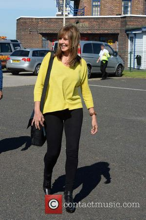 Carol Vorderman and Graham Duff - Carol Vorderman and boyfriend Graham Duff at City Airport Manchester after appearing on BBC...