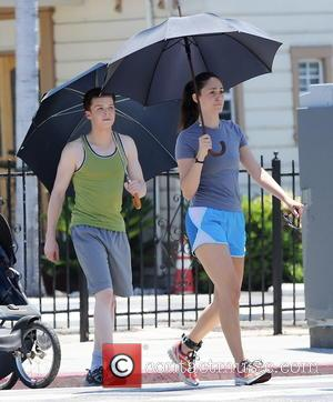 Emmy Rossum and Cameron Monaghan - Emmy Rossum gets a workout jogging with costar Cameron Monaghan while filming a new...