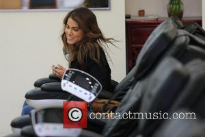 Nikki Reed - Nikki Reed gets a pedicure after taking a romantic stroll with a male friend and eating lunch...