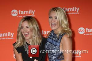 Ashley Tisdale and Emily Osment - Disney ABC TCA 2014 Summer Press Tour - Arrivals - Beverly Hills, California, United...
