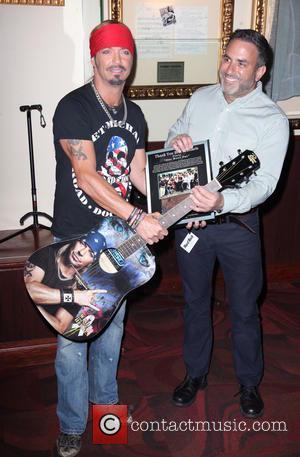 Bret Michaels - Bret Michaels guitar donation at Hard Rock...