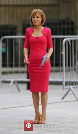 Sian Williams - Sian Williams filming outside BBC Broadcasting House - London, United Kingdom - Sunday 20th July 2014