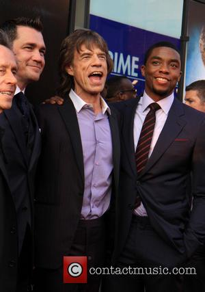 Mick Jagger and Chadwick Boseman - New York premiere of 'Get On Up' held at The Apollo Theater - Arrivals...