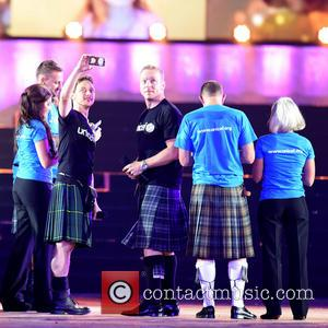 UNICEF Ambassadors, James McAvoy and Sir Chris Hoy - The 2014 Glasgow Commonwealth Games - Opening Ceremony at Celtic Park...