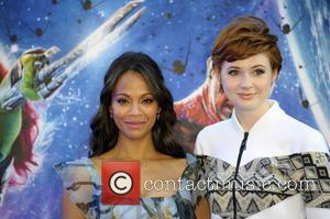 Zoe Saldana and Karen Gillan - UK premiere of 'Guardians of the Galaxy' at Empire Cinema Leicester Square - Arrivals...