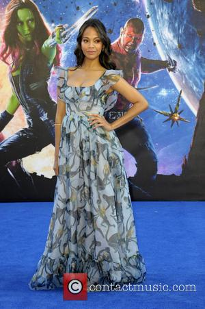 Zoe Saldana - UK premiere of 'Guardians of the Galaxy' at Empire Cinema Leicester Square - Arrivals - London, United...