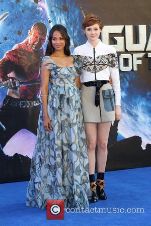 Zoe Saldana and Karen Gillan - 'Guardians of the Galaxy' UK film premiere held at the Empire cinema - Arrivals...