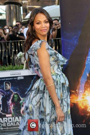 Zoe Saldana - UK premiere of 'Guardians of the Galaxy' held at the Empire cinema - Arrivals - London, United...