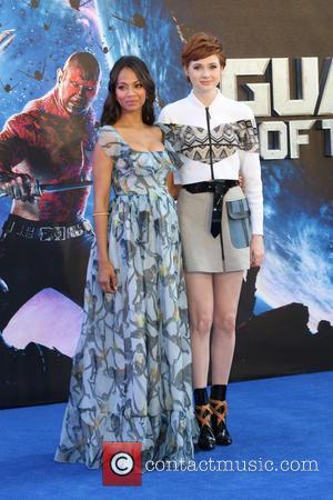 Zoe Saldana and Karen Gillan - UK premiere of 'Guardians of the Galaxy' held at the Empire cinema - Arrivals...