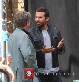 Bradley Cooper - Bradley Cooper and Uma Thurman filming scenes for their upcoming movie 'Adam Jones' in Notting Hill -...