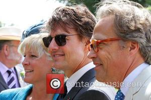 Tom Cruise and Lord March - Tom Cruise arriving at Goodwood Racecourse for 'Glorious Goodwood - Ladies Day' - Goodwood,...