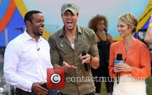 Enrique Iglesias and Amy Robach - Good Morning America Summer Concert Series - New York, United States - Saturday 2nd...