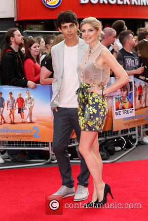 Ashley James and Matt Richardson - The Inbetweeners 2 World premiere held at the Vue cinema - Arrivals - London,...