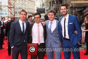 Joe Thomas, Simon Bird, James Buckley and Blake Harrison - 'The Inbetweeners 2' world premiere held at the Vue Cinema...