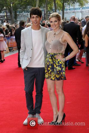 Ashley James and Matt Richardson - World Premiere of 'The Inbetweeners 2' at Vue West End - London, United Kingdom...