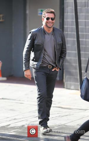 Bradley Cooper - Bradley Cooper filming Adam Jones in Leicester square - London, United Kingdom - Thursday 7th August 2014