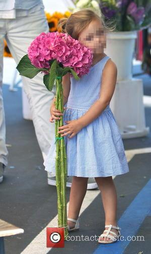 Delilah del Toro - Kimberly Stewart takes daughter Delilah to a Beverly Hills Farmer's Market to buy some flowers -...