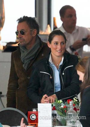 Bruce Springsteen and Jessica Springsteen - Bruce Springsteen and his wife, Patti Scialfa, watch their daughter Jessica compete in the...