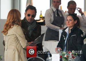 Bruce Springsteen, Patti Scialfa and Jessica Springsteen - Bruce Springsteen and his wife, Patti Scialfa, watch their daughter Jessica compete...