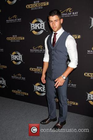 Nick Jonas - Celebrities arrive on the Big Knockout Boxing red carpet at the Mandalay Bay Events Center in the...