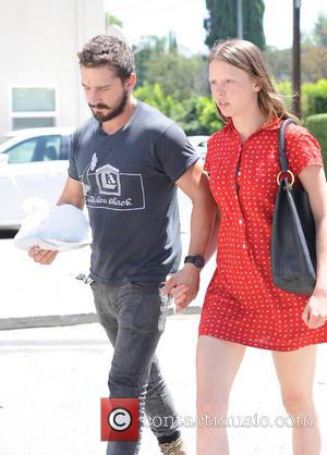 Shia LaBeouf and Mia Goth - Shia LaBeouf holds hands with girlfriend Mia Goth in Los Angeles - Los Angeles,...