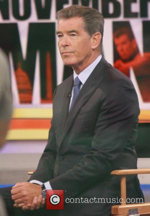 Pierce Brosnan - Pierce Brosnan appears on 'Good Morning America' to promote his new movie 'The November Man' - New...