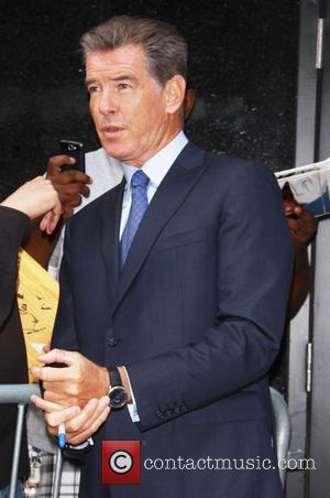 Pierce Brosnan - Pierce Brosnan leaves the 'Good Morning America' studios after appearing on the show to promote his new...