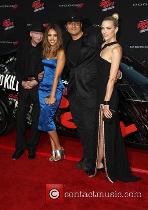 Frank Miller, Jessica Alba, Robert Rodriguez and Jaime King