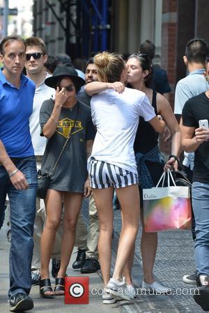 Cara Delevingne and Zoe Kravitz - Cara Delevingne and Zoe Kravitz out in New York - Manhattan, New York, United...