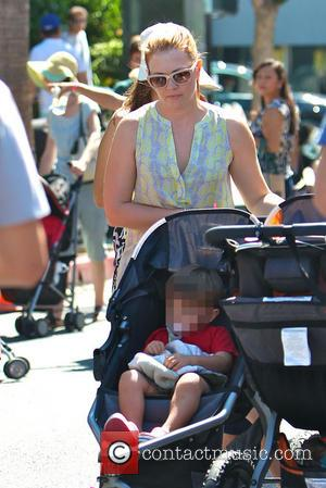 Melissa Joan Hart and Tucker Wilkerson - Melissa Joan Hart takes her sons to the Studio City Farmers Market -...