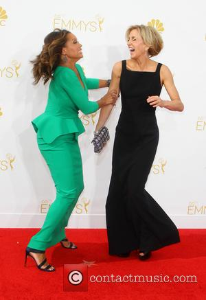 Vanessa Williams and Felicity Huffman - 66th Primetime Emmy Awards at Nokia Theatre L.A. Live - Arrivals - Los Angeles,...