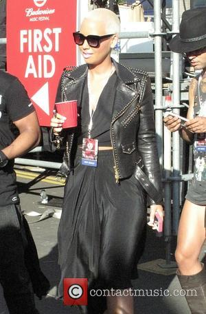Amber Rose - Artists are seen hanging out and performing at Budweiser Made In America Festival 2014 held at the...