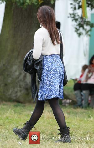 English fashion model Daisy Lowe visits the different food stalls at Big Feastival.- Chipping Norton, United Kingdom - Saturday 30th...