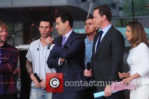 Adam Levine, Maroon 5, Carson Daly, Natalie Morales and Willie Geist - Maroon 5 performs on Today Show concert series...