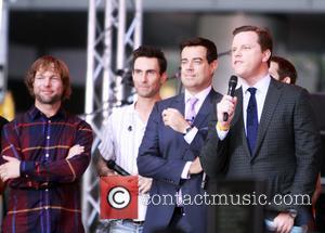 Jesse Carmichael, Ryan Dusick, Adam Levine, Maroon 5 and Willie Geist