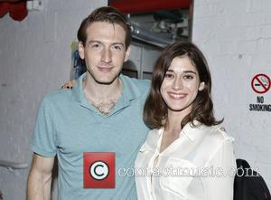 Fran Kranz and Lizzy Caplan - Backstage at  Broadway's You Can't Take It With You at the Longacre Theatre....