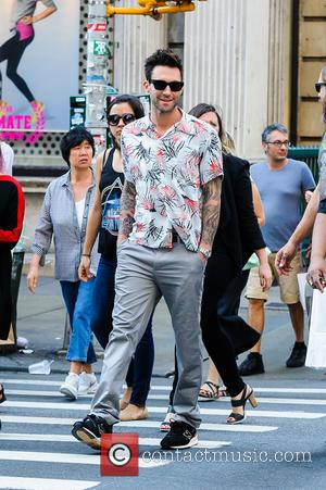 Adam Levine - Adam Levine was seen walking in Soho with a friend. - New York, New York, United States...