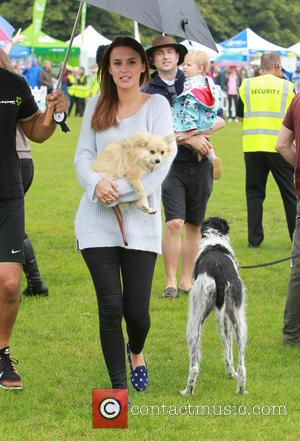 Lucy Watson - Celebrities were photographed holding puppies at Primrose Hill in London, during the Pup Aid 2014 event. -...