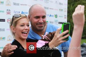 Rachel Riley - Celebrities were photographed holding puppies at Primrose Hill in London, during the Pup Aid 2014 event. -...