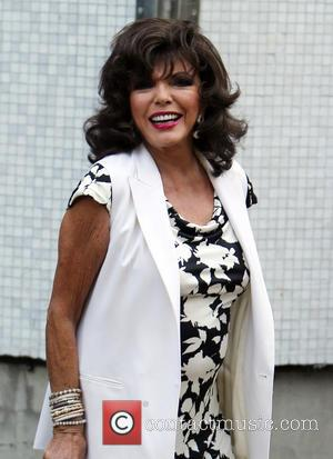 Joan Collins - Joan Collins outside ITV Studios - London, United Kingdom - Monday 8th September 2014