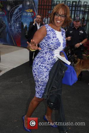 Gayle King - Celebrities and Players at the Men's Final of the 2014 U.S. Open. Marin Cilic of Croatia won...