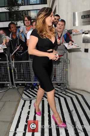 Kelly Brook - Kelly Brook arrives at Radio 2 - London, United Kingdom - Tuesday 9th September 2014
